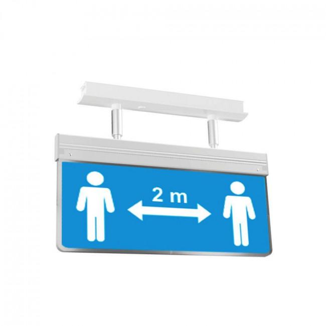 COV-44/EM Πινακίδα Σήμανσης Πληροφόρησης Μέτρων Ασφαλείας