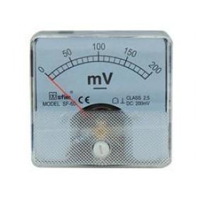 Βολτόμετρο Πόρτας Πίνακος 60X60mm DC 0-200mV SF-60 SFIM