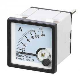 Αμπερόμετρο Πόρτας Πίνακος Μέσω Μετασχηματιστή 72X72mm AC 60/5A SF-72 SFIM