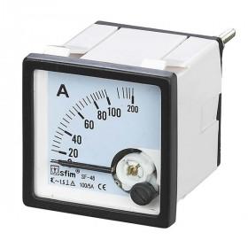 Αμπερόμετρο Πόρτας Πίνακος Μέσω Μετασχηματιστή 72X72mm AC 100/5A SF-72 SFIM
