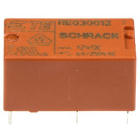 Ρελέ Μινιατούρας 1P 12V DC 6A RE034012 SCHRACK