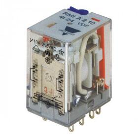 Ρελέ Μεσαίο 2P 230V AC Solder Με Led RMIA210230AC CARLO GAVAZZI