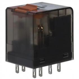 Ρελέ Μεσαίο 2P 12V DC Solder Με LED PT270L12 SCHRACK