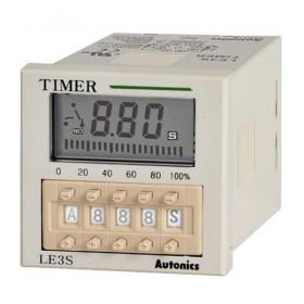 Χρονικό 10 Λειτουργιών LCD 48X48mm 24-240VAC/DC LE3S AUTONICS