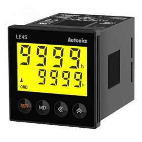 Χρονικό 10 Λειτουργιών LCD 48X48mm 24-240VAC/DC LE4S AUTONICS