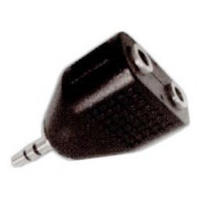 Adaptor 3.5mm² Stereo Σε 2X3.5mm² Stereo Θηλυκό AU1511 UNI