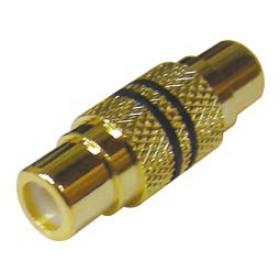 RCA Adaptor Επίχρυσο Θηλυκό Σε RCA Θηλυκό Μαύρο LZ527 (AD089B) YT
