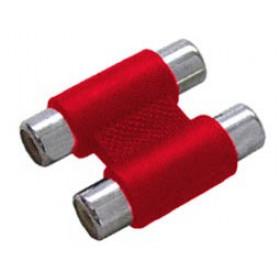 RCA Adaptor Πλαστικό Νίκελ 2Θηλυκό Σε RCA 2Θηλυκό Κόκκινο G048N(AD057) YT