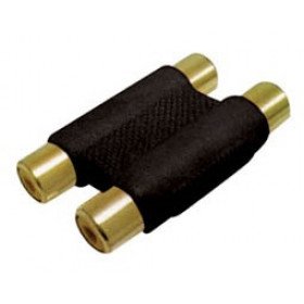 RCA Adaptor Πλαστικό Επίχρυσο 2Θηλυκό Σε RCA 2Θηλυκό Μαύρο G048G(AD057) YT