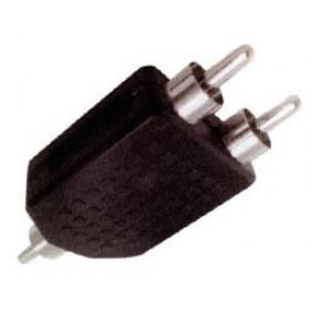 RCA Adaptor Πλαστικό Αρσενικό Σε RCA Αρσενικό Διπλό AU1532 UNI