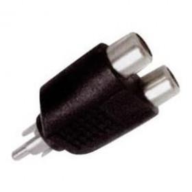 RCA Adaptor Πλαστικό Αρσενικό Σε RCA Θηλυκό Διπλό EA2074 LANCOM