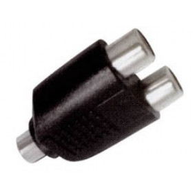 RCA Adaptor Πλαστικό Θηλυκό Σε RCA Θηλυκό Διπλό EA2077 LNC