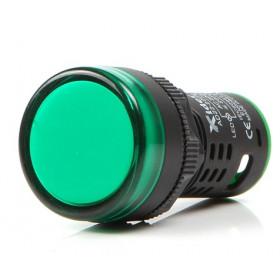 Ενδεικτική Λυχνία LED Φ22 Πράσινη 230VAC AD22-22DS