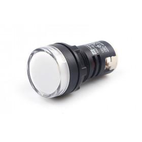 Ενδεικτική Λυχνία LED Φ22 Λευκή 230VAC AD22-22DS