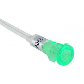 Λυχνία NEON Πρεσσαριστή με καλώδιο 17cm Πράσινο IP40 AD22E-009 XINDALI
