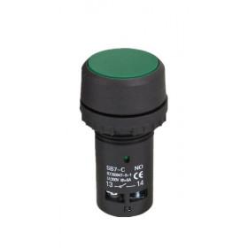 Μπουτόν Χωνευτό Φ22 1NO+1NC 4 Επαφών Πράσινο SB7-CA35 XINDALI