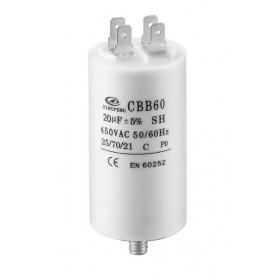 Πυκνωτής Μονίμου Λειτουργίας 3.15μF 450V Faston CBB60-F