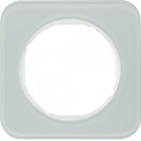 Πλαίσιο 1 Θέσης Γυαλί Λευκό R.1 BERKER