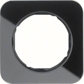 Πλαίσιο 1 Θέσης Γυαλί Μαύρο R.1 BERKER