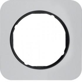 Πλαίσιο 1 Θέσης Αλουμίνιο Με Μαύρο R.1 BERKER
