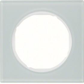 Πλαίσιο 1 Θέσης Λευκό Γυαλί R.3 BERKER