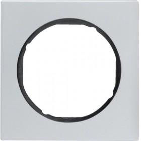 Πλαίσιο 1 Θέσης Αλουμίνιο Με Μαύρο R.3 BERKER