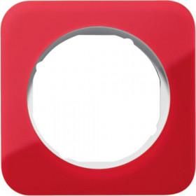 Πλαίσιο 1 Θέσης Ακρυλικό Κόκκινο Με Λευκό R.1 BERKER