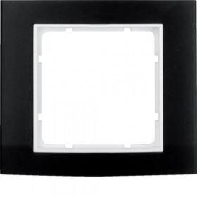Πλαίσιο 1 Θέσης Μαύρο Με Λευκό B.3 BERKER