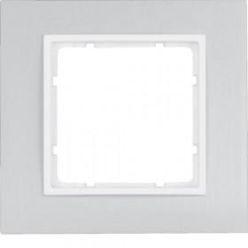 Πλαίσιο 1 Θέσης Αλουμίνιο Με Λευκό B.7 BERKER