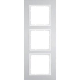 Πλαίσιο 3 Θέσεων Αλουμίνιο Με Λευκό B.3 BERKER
