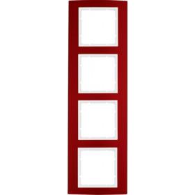 Πλαίσιο 4 Θέσεων Κόκκινο Με Λευκό B.3 BERKER