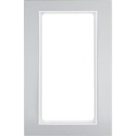 Πλαίσιο Για Μπουτόν KNX 4 Πλήκτρων Αλουμίνιο Με Λευκό Β.3