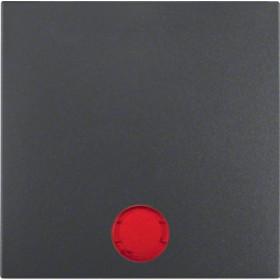 Μετώπη 1 Πλήκτρου Φωτεινής Λειτουργίας Ανθρακί S.1/B.x BERKER