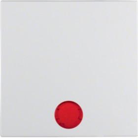 Μετώπη 1 Πλήκτρου Φωτεινής Λειτουργίας Λευκό Ματ S.1/B.x BERKER