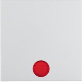 Μετώπη 1 Πλήκτρου Φωτεινής Λειτουργίας Λευκό S.1/B.x BERKER
