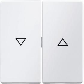 Μετώπη 2 Πλήκτρων Ρολών Λευκό Q.x BERKER