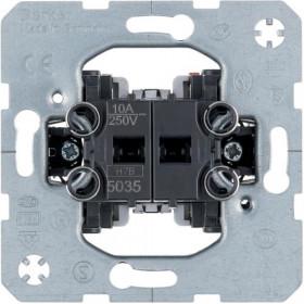 Μηχανισμός Μπουτόν Διπλό 10A BERKER
