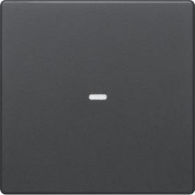 Μετώπη Μπουτόν KNX 1 Πλήκτρου Φωτισμού Ανθρακί Q.x