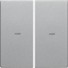 Μετώπη Μπουτόν KNX 2 Πλήκτρων Φωτισμού Αλουμίνιο Q.x
