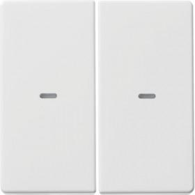 Μετώπη Μπουτόν KNX 2 Πλήκτρων Φωτισμού Λευκό Q.x