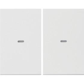 Μετώπη Μπουτόν KNX 2 Πλήκτρων Φωτισμού Λευκό K.1