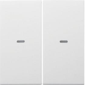 Μετώπη Μπουτόν KNX 2 Πλήκτρων Φωτισμού Λευκό S.1/Bx