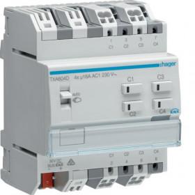 Ενεργοποιητής Ράγας Φωτισμού easy KNX 4 Εξόδων C-Load TXA604D