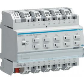 Ενεργοποιητής Ράγας Φωτισμού easy KNX 10 Εξόδων C-Load TXA610D