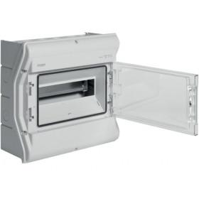 Πίνακας Επίτοιχος 1 Σειράς 12 Στοιχείων Γκρί Διάφανη Πόρτα IP65 VECTOR