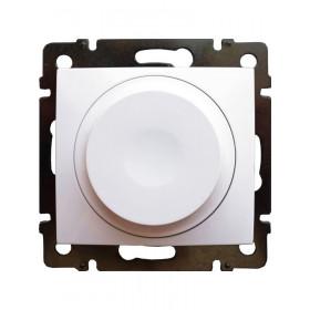Dimmer Περιστροφικό Universal 300W Λευκό Valena