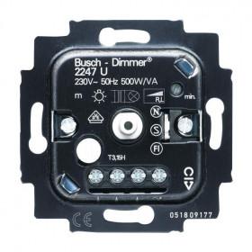 Μηχανισμός Dimmer Περιστροφικός 500W 2247U-500 Busch-Jaeger