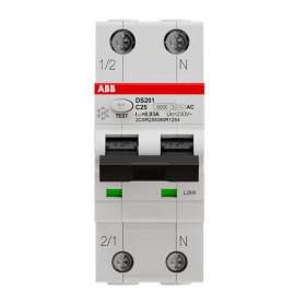 Ρελέ Διαρροής AC 2Ρ 30mA Με Αυτόματη Ασφάλεια C 10Α 6kA DSΗ201-C10-AC30