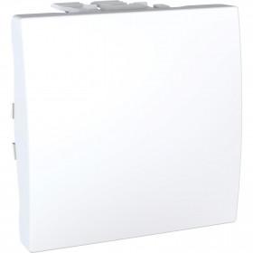 Διακόπτης Ενδιάμεσος A/R 2 Στοιχείων Λευκό Unica