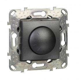Dimmer LED 4-400W 2 Στοιχείων Γραφίτης Unica
